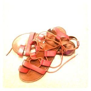 Mossimo Brown Strappy Gladiator Sandals. Size 11